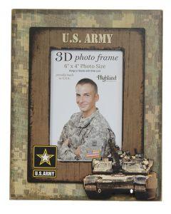 4x6 3D Photo Vert Frame ARMY