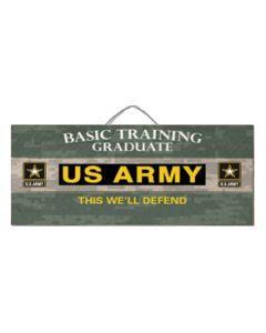 12x6 SlatSign ARMY BASIC TRG